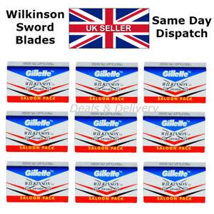 100 Wilkinson Sword Double Edge Safety Shaving Razor Blades STAINLESS + 10 Free