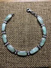 """Beautiful Sterling Jade Tennis Bracelet Size 6 7/8"""""""