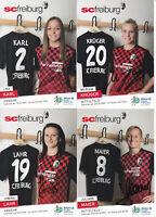 Frauenfussball - SC Freiburg 2015/16, 16 Autogrammkarten, Originalunterschrift!