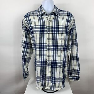 Tommy Hilfiger Button Down Shirt Men's Size Large Plaid Linen Business Casual