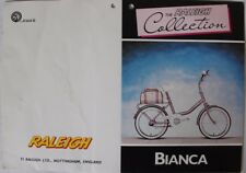 'The Raleigh Collection'  'Bianca' Original Bicycle Shop Display Tag c1980