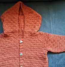 Baby''s hooded double knit handknitted jacket