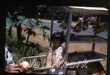 1961 kodachrome  Photo slide  Hawaii #1  fruit stand