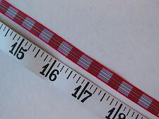 """A2288 RIBBON Woven Plaid Red Mulit Colors 3/8"""" W 6 Yds UNIQUE"""