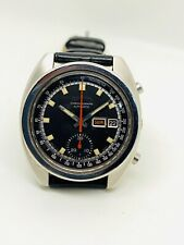 Vintage Rare Seiko Automatic Chronograph Day/Date Black Dial 6139-6012.