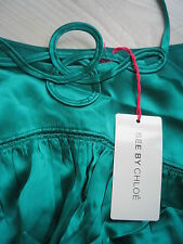 *** NEW + SEE BY CHLOE EMERALD GREEN DRESS + RRP £549 + SIZE +  IT 40 + UK 8