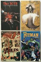 The Boys, Sandman, Fables, Hitman Graphic Novel / TPB Comic Lot of 4 DC Vertigo