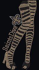 New Orleans Saints Diva Rhinestone Iron on Transfer   UBYR