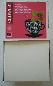 Clipper 250 Enveloped Tea Bags Fairtrade & Organic Tea Red Fruits & Aronia Berry