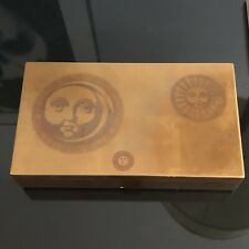 "Fornasetti Vintage Laquer Gold Jewelry Box 14""x 8"" X 3"" Mcm Italian 50s Milano"
