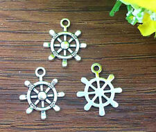 6pcs Rudder Tibetan Silver Bead charms Pendants DIY jewelry 23x20mm