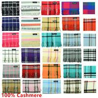 Men Women New 100% CASHMERE Warm Warp Scarf Made in Scotland Super Soft