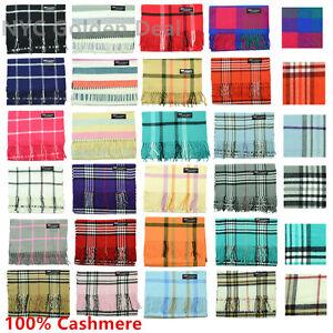 Wholesale Lot Men Women 100% CASHMERE Warm Warp Scarf Scotland Super Soft