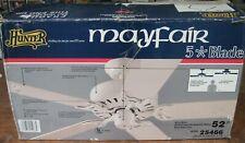 Hunter Mayfair 5 blade 52 inch ceiling fan, white