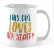 Staffordshire bull terrier gift idea Mug Present for Staffy Lover