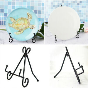 Photo Plate Pedestal Holder Display Stand Dish Rack Picture Frame Stand