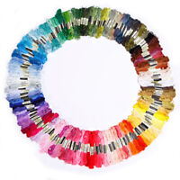 50 Colors Cross Stitch Thread Embroidery Floss Sewing Skeins 100% Cotton Line