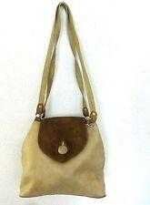 Handbag Texier Beige Leather Shoulder Woman