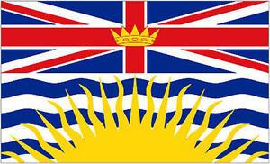 British Columbia Province 5'x3' Flag Canada Canadian