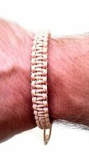 Mens knot braided bracelet jewelry friendship wristband cuff surfer gift Beige