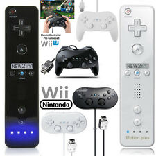 For Classic Wii U Wii Remote Controller Nunchuck Set Classic Controller Pro US
