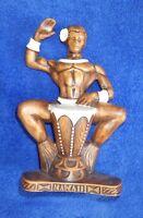 Old Vintage 1959 Hawaiian Treasure Craft Hawaii Drummer Man Tiki Bar LuauDecor