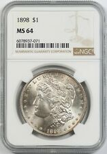 1898 $1 NGC MS 64 Morgan Silver Dollar