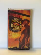 Clint Eastwood In High Plains Drifter vhs