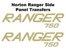 Norton Ranger 750 Side Panel Transfers and Decals D50194 SOLD AS A PAIR BSA