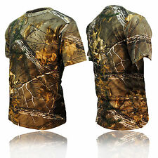 BOYS KIDS JUNGLE TREE CAMOUFLAGE CAMO SHORT SLEEVE TSHIRT TOP GREEN BROWN 2 - 13