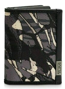 TUMI 'Alpha' Men Gusseted ID Credit Card Case Wallet Highlands Print w/Gift Box