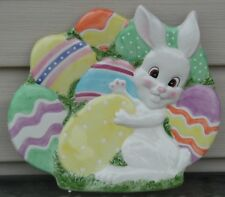 Fitz and Floyd Gathering Eggs Canape Plate Easter Bunny
