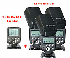 Yongnuo YN560-TX N  Wireless Flash Controller for Nikon + 3 Pcs YN-560III Flash