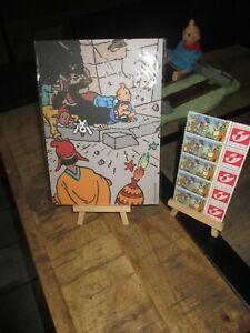 Hergé&Tintin-Collector neuf-Timbres,enveloppes,papiers,le Temple du soleil-2002