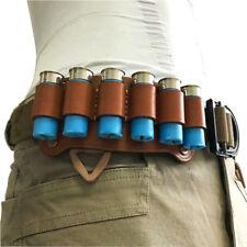 c51ef17f655 New Tactical Waist Belt Use Leather 6 Cartridge Bullets 12G Shotgun Shell  Holder