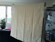 12  serviettes anciennes ,1 nappe 110 x 110 , service de table, lin /coton jaune