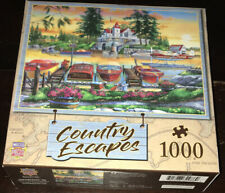 Master Pieces 1000 Piece Jigsaw Puzzle Country Escapes Millionaires Row Art Boat