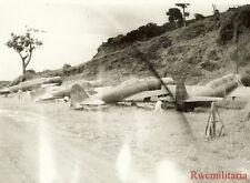 Org. Photo: Abandoned Japanese A6M Fighters & B6N Torpedo Bombers on Airfield!!!