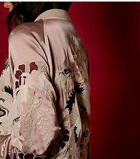 River Island Studio Premium Embroidered Satin Bomber Jacket