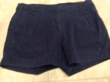 Women's navy blue H&M stretch cotton shorts size 4-6