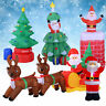 Inflatable Christmas Santa Claus Air blown Decoration Present LED Lights Outdoor