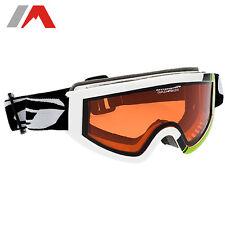 Skibrille Kinder Goggle Schneebrille Kontrast orange Doppelscheibe