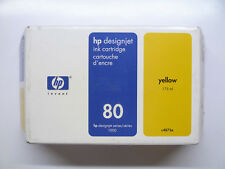 HP 80 YELLOW GIALLO c4873a 175ml DesignJet 1000 1050 1055 --- OVP 29/06/2012