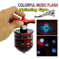 Spielzeug für Kinder LED Geschenk Simulation Holz Musik Luminous Gyro spinnen