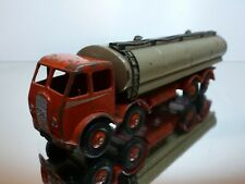 DINKY TOYS 504 FODEN TANKER TRUCK 1st type - RED + FAWN - GOOD CONDITION