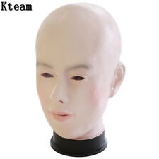 Latex Female mask, fancy dress, PVC Womens mask. Sissy Mask,  Size M