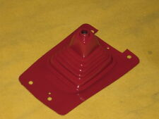 DATSUN 280ZX 5SPD SHIFT BOOT OUTER RED COLOR WITH MOUNTING PLATE  1979-1983