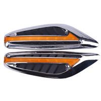 Yellow Blade Steering Light Fender Side Marker Light Car LED Turn Signal Lamp DR
