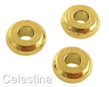 50 x 4mm or couleur plat rond espaceur perles SP12-fonte-laiton