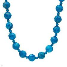 """Beaded Necklace With 310.00ctw Genuine Howlite in 925 Sterling silver 18"""""""